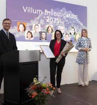 Milena Corredig modtager sit Villum Investigator diplom